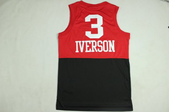 new styles 51389 3f0c2 Cheap Quality Allen Iverson Half Red Merchandise Half Black ...