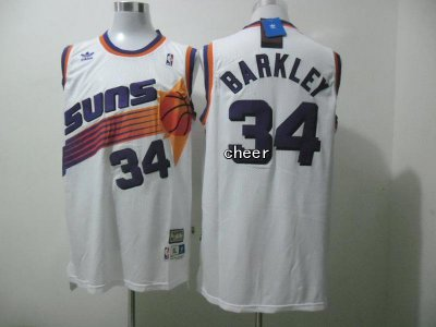 Cheap Sale Fabric Phoenix Suns #34 barkley white Clothing EDZ3339