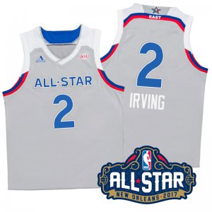 Chic 2017 Basketball Orleans All Star Eastern Conference Cavaliers #2 Kyrie Irving Gray UGT332