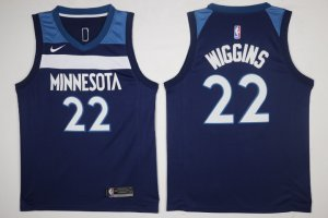 Discount Men's Minnesota Timberwolves #22 Andrew Wiggins Navy Blue 2017 Jerseys Nike Swingman Stitched LBU2856