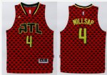 Durable Atlanta Hawks #4 Paul Millsap NBA Red Swingman Stitched SRA371