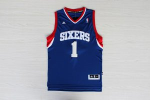 Fine fabric Philadelphia Sixers Carter Williams #1 Jerseys Blue BBK3290