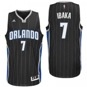 Full of charm Orlando Magic #7 Serge Ibaka 2016 Alternate Black NBA Swingman NNF3147