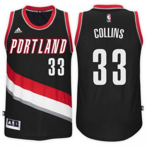 Good work Portland Trail Blazers NBA #33 Zach Collins Road Black Swingman PKW3461