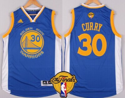 Hot Cheap Golden State Warriors #30 Stephen Curry Blue 2016 Gear The Finals Patch TVQ22