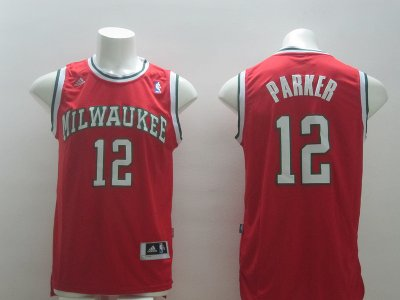 New Arrival 2018 Milwaukee Clothing Bucks 12 parker Red IGB2839