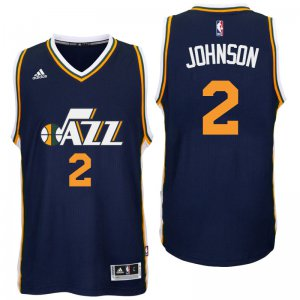 New Style Utah Jazz #2 Joe Johnson 2016 Road Navy Swingman NBA YZP4121