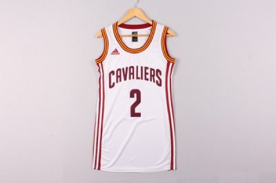 Official Quality Cleveland Apparel Cavaliers 2 Irving white dress NQB4334