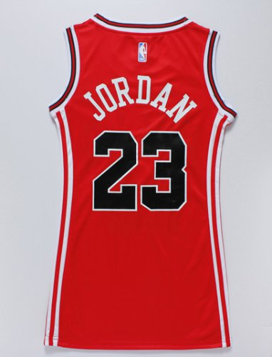 Official Women Chicago Bulls 23 Michael Jordan Clothing red dress PVX4265