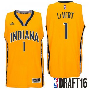 Online Sale 2016 Draft Pick Indiana Pacers #1 Caris LeVert Jerseys Alternate Gold Swingman LZN1990