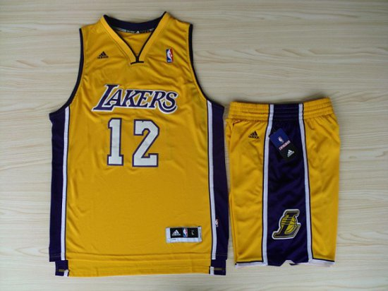 a2f543172 Online Sale 2018 Revolution 30 Shorts Los Angeles Lakers  12 Dwight Howard Swingman  Yellow Home Rev Basketball Suits Merchandise ZVA4509