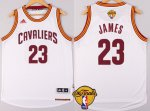 Online Shopping Gear Cleveland Cavaliers #23 LeBron James 2016 The Finals Patch White ADM280