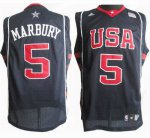 Order USA 5 Stephon Marbury Soul Apparel Swingman Stitched Blue GFD4091