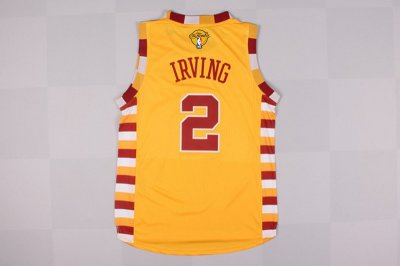 Sale Online 2016 Cavaliers #2 Irving Finals Basketball yellow ZCR219