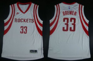 Sale Online Revolution 30 Rockets #33 Corey Brewer White Road NBA Stitched VBL1924
