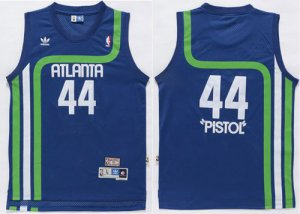 Shop Cheap Hawks #44 Pete Maravich Light Blue 'Pistol' Soul Jersey Swingman Stitched KVE361