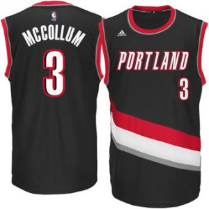 The last product Mens Portland Trail Blazers Apparel CJ McCollum Black Replica Road BUP3466