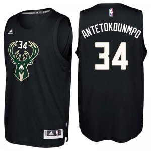 Wholesale Milwaukee Bucks #34 Giannis Antetokounmpo Black Jerseys Alternate Stitched SEY2820