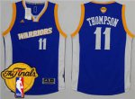 Wholesale Warriors #11 Klay Thompson Royal Stretch Basketball Crossover The Finals Patch Stitched BWY1836