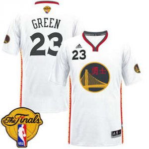 for wholesale Warriors #23 Draymond Green White 2017 Gear Chinese Year The Finals Patch Stitched PZD1839