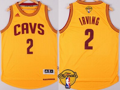 harmony Cleveland Cavaliers Jersey #2 Kyrie Irving 2016 The Finals Patch Yellow QCY271