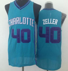harmony Revolution Basketball 30 Hornets #40 Cody Zeller Light Blue Stitched RAJ651