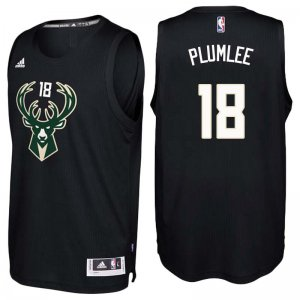 2018 Cheap Milwaukee Bucks #18 Miles Plumlee Black Jerseys Swingman HLQ2801