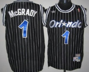 2018 New Arrive Orlando Magic #1 Tracy McGrady Black Basketball Hardwood Classics Soul Swingman Throwback SVV3172