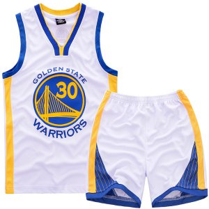 2018 Online Cheap #30 Curry Warriors Kids Basketball Sets white XAF4443