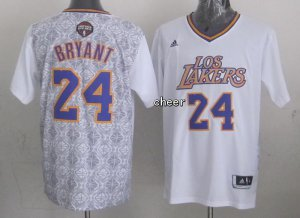 Authentic Los Angeles Lakers #24 Kobe Bryant 2014 Noches Enebea Swingman Gear YFA2498