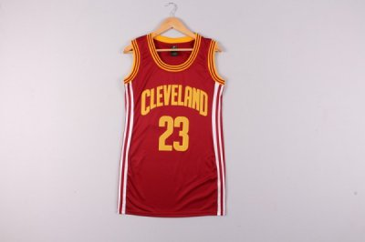 Best Gift Women Cleveland Cavaliers 23 LeBron Gear James Red Dress DDF4336