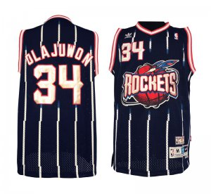 Buy Cheap #34 Apparel Hakeem Olajuwon Houston Rockets Hardwood Classics Swingman JFB1932