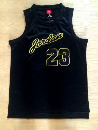 Buy Cheap Chicago Gear #23 Jordan Black Gold Commemorative Edition Basketball FMV732