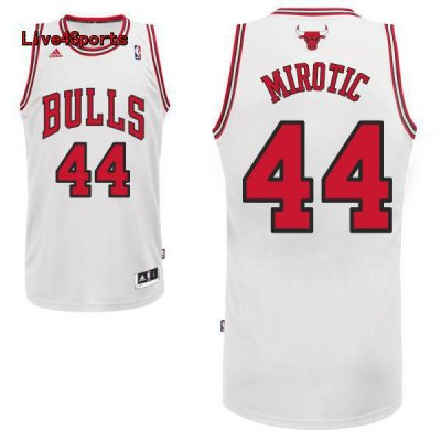 Buy Cheap Nikola NBA Mirotic Chicago Bulls #44 white UMS824