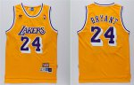 Buy Discount Los NBA Angeles Lakers #24 Kobe Bryant Yellow Hardwood Classics Soul Swingman Throwback RPF2386