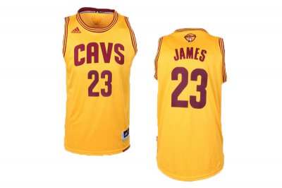 Buy Online Cheap #23 Lebron James Cavaliers Finals NBA yellow CDI1078