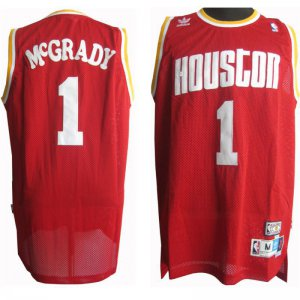 Buy Online Cheap Houston Rockets Tracy Mcgrady #1 Apparel Red WUB1949