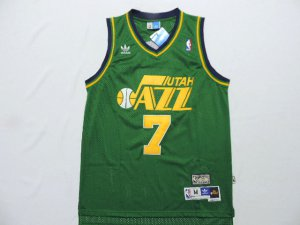 Cheap price 7 Pete Maravich Utah Jazz Basketball throwback green CIE4122