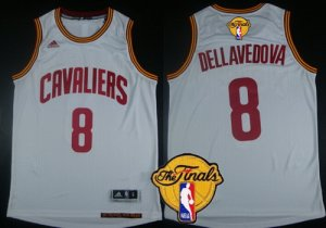 Cheap with Cleveland Basketball Cavaliers #8 Matthew Dellavedova 2016 The Finals Patch White CCN301