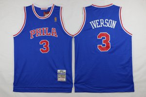 Cheap with Philadelphia 76ers #3 Iverson blue 2016 The NBA Season IOL3260