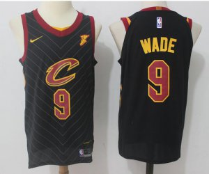Cheaper Men's Cleveland Cavaliers #9 Jerseys Dwyane Wade Black 2017 Nike Swingman Stitched XCU1190