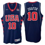 Classic version Athens 2004 Olympics USA Basketball Dream Team #10 Emeka Okafor Navy Basketball IOQ3970