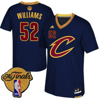 Discount on 2016 Finals Cleveland Cavaliers #52 Mo Williams Navy Blue Apparel Short Sleeved ORF255