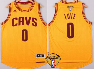 Find Quality Products Cleveland Cavaliers #0 Kevin Love 2016 Jersey The Finals Patch Yellow ZAK259