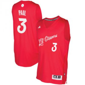 Hight Quality LA Clippers #3 Jerseys Chris Paul Red 2016 Christmas Day Swingman EAN960