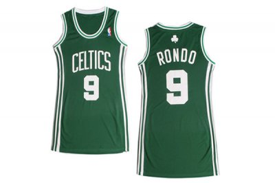 Hight Quality Women Boston Apparel Celtics 9 Rajon Rondo Green Dress IIK4415