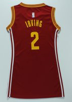 Hight Quality Women Cleveland Cavaliers 2 IRVING Merchandise RED dress VSS4279