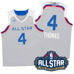 Hot Sale Cheap 2017 Orleans All Star Eastern Conference Celtics #4 Isaiah Thomas Gray Jerseys LFM334