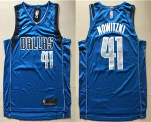 Manufacturer's delivery Dallas Mavericks #41 Dirk Nowitzki Basketball Blue 2017 Nike Swingman Wish Stitched CDM1262