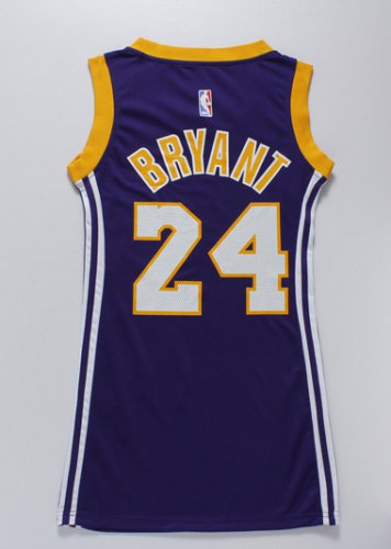 New Arrival 2018 Women Los Angeles Lakers 24 Kobe Bryant Purple Apparel CTC4285